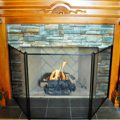 3-Fold Wood Stove Screen