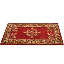 44x22 Rectangle Fire Resistant Wool Hearth Rug - Vermillion Jardin