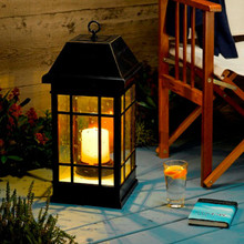 XL Mission Pillar Candle Solar Lantern 4-Pack SUPER VALUE