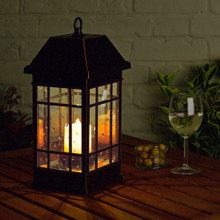 Mission Pillar Candle Solar Lantern