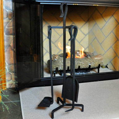 4-Piece Mini Fireplace Tool Set