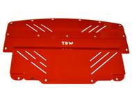 Infiniti G37 & Nissan 370Z Aluminum Under Tray RED (G37/370ZEngineRD)