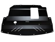 2004-2006 Infiniti G35X Aluminum Under Tray Black Powder Coated Front - no door