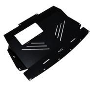 TBW Aluminum Engine Splash Shield Under Tray for Infiniti FX45 Black 2006-2008