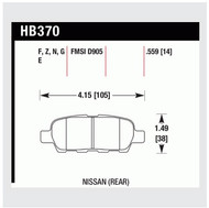 Hawk 'Performance Street' REAR Brake Pad   HB370N.559