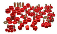 Energy HyperFlex Master Bushing Kit for Nissan 350Z & Infiniti G35 (7.18108R) Red Bushings