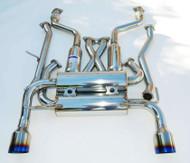 Invidia Gemini Stainless Tip Cat-back Exhaust for Nissan 350z HS02N3ZGIS
