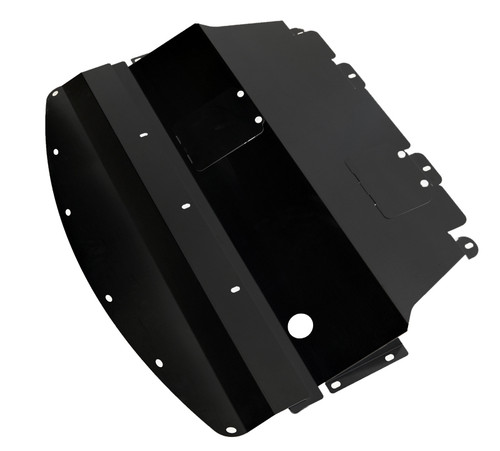 2011-2014 (Y51) Infiniti M56 Aluminum Under Tray Black | TBW (M56EngineBK)