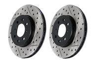 StopTech REAR Drilled & Slotted Rotors (Pair) for Infiniti G37 & Nissan 370Z Sport