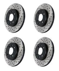 StopTech Front/Rear Drilled & Slotted Rotors (4) for Infiniti G37 & Nissan 370Z Akebono
