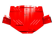 red powder coated tray
