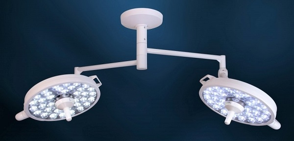 Medical Illumination MI-1000 LED Surgical Light with Two LED Surgical Lights