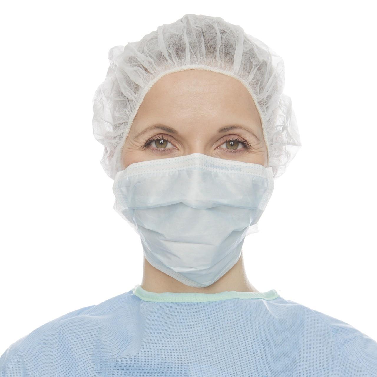 Mask Pleat Health Halyard Blue Style Basics Surgical