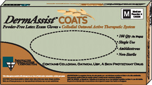 Latex Exam Gloves with Oatmeal-DermAssist COATS