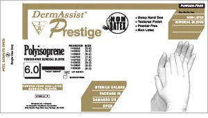 Latex Surgical Gloves-DermAssist Prestige