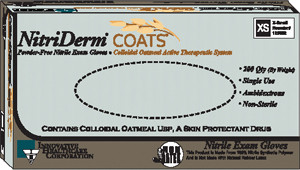 Oatmeal Nitrile Exam Gloves-Nitriderm COATS