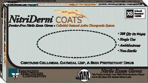 Oatmeal Nitrile Exam Gloves-Nitriderm COATS