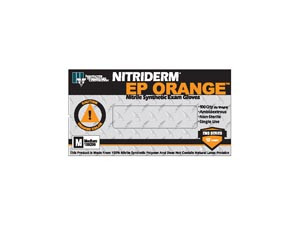 Orange Nitrile Exam Gloves-NitriDerm EP