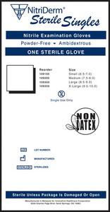 Sterile Nitrile Exam Gloves Singles-NitriDerm