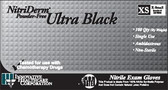 Ultra Black Nitrile Exam Gloves-NitriDerm
