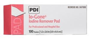 PDI IO-Gone Iodine Remover Pads