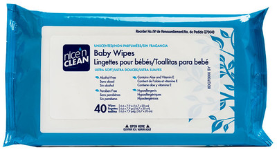 PDI Nice'n Clean Baby Wipes Unscented