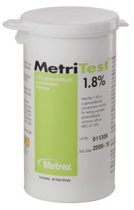 Glutaraldehyde Test Strips 1.8%