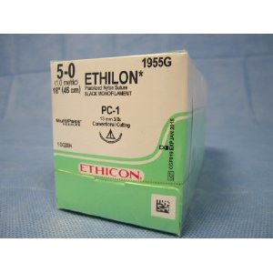 "Ethicon ETHILON Suture G695G Size 5-0 18"" P-1 Cutting Edge Prime Reverse"
