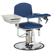Clinton Blood Drawing Chair with Padded Arms and Drawer H Series 6320