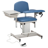 Blood Drawing Chair Padded Arms Drawer Power Series