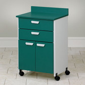 Mobile Treatment Cabinet with 2 Doors 2 Drawers
