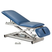 Open Base Power Table Adjustable Backrest Drop Section