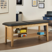 "Treatment Table with Shelving 30"" Wide ETA Classic Series"