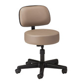 Clinton 5-Leg Stool with Backrest and Wheels Spin Lift 2130-21