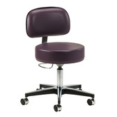 5-Leg Pneumatic Stool with Height Lever and Backrest