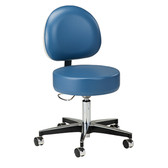 5-Leg Pneumatic Stool Height Lever and D-Shaped Backrest