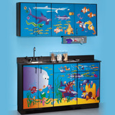 Pediatric Exam Room Ocean Commotion Cabinets