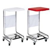 Mobile Hamper Square Tilt-Lid White
