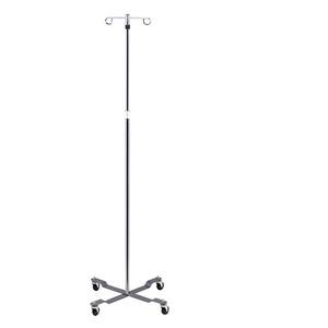 IV Pole 4 Leg Base 2-Hook Economy Pole
