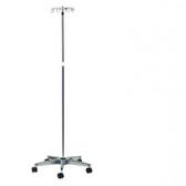 IV Pole 5 Leg Base 4-Hook Aluminum Base
