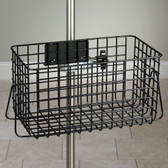 "IV Pole Heavy Duty Wire Basket 12"" Wide Black"