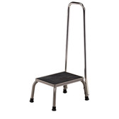 Step Stool with Hand Rail Stainless Steel