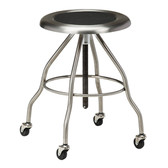 Mobile Stool Stainless Steel Seat Screw Height Adjustment