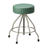 "Padded Stool 14"" Seat Stainless Steel Screw Height Adjustment"
