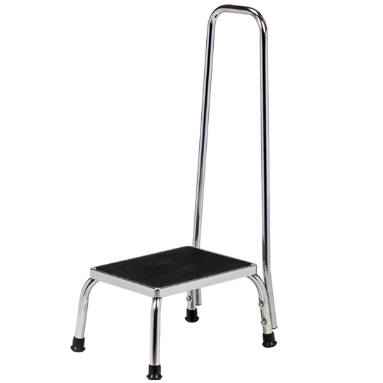 Pleasant Clinton Step Stool With Hand Rail Chrome T 50 Ocoug Best Dining Table And Chair Ideas Images Ocougorg