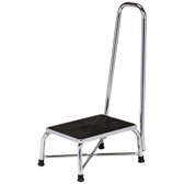 Clinton Bariatric Step Stool Large Top with Handrail Chrome T-6250