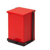 Steel Waste Can 24 Quart-6 Gallons Red Premium