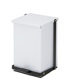 Steel Waste Can 24 Quart-6 Gallons White Premium