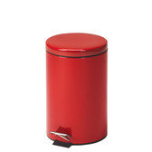 Steel Round Waste Can 13 Quart-3.25 Gallons Red