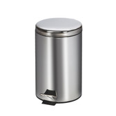 Round Waste Can 13 Quart-3.25 Gallons Stainless Steel